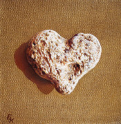 Heart Stone Art - Wounded heart by Elena Kolotusha