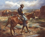 Soldier Paintings - Wounded In Action by Harvie Brown