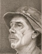 Veteran Drawings Prints - Wounded Print by Jim Ford