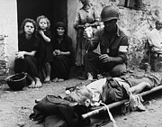 Civilians Photos - Wounded U.s. Soldier Receives Blood by Everett