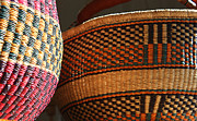 Baskets Posters - Woven baskets Poster by David Bearden