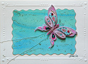 Gracie Mixed Media Originals - WowFly  by Gracies Creations