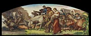 Works Progress Administration Art - Wpa Mural. Justice Of The Plains The by Everett