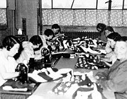 Factory Workers Framed Prints - Wpa Seamstresses Making Flags, Grand Framed Print by Everett