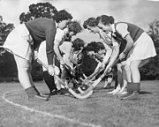 Mid Adult Women Prints - Wraf Hockey Print by George Hales