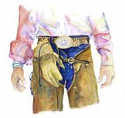 Cowboy Paintings - Wrangler  by Pat Saunders-White