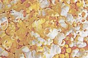 Salty Treat Posters - Wrapped Popcorn Abstract Poster by Steve Ohlsen