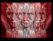 Anger Digital Art Metal Prints - Wrath Threefold Metal Print by Mimulux patricia no