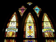 Church Glass Art Metal Prints - WRC Stained Glass Window Metal Print by Thomas Woolworth