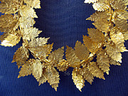 Ancient Greek Jewelry Prints - Wreath oak-leaves Print by Andonis Katanos