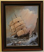 Masted Ship Paintings - Wreck of the Glenesslin by George E Lee