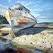 Marin County Posters - Wreck of the Old Pt. Reyes Poster by Colleen Proppe