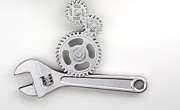 Mechanical Photo Metal Prints - Wrench Metal Print by Blink Images