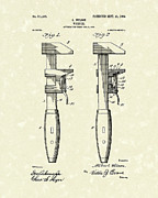 Patent Drawing Framed Prints - Wrench Wilson 1904 Patent Art Framed Print by Prior Art Design