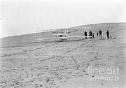 Aviation Pioneers Prints - Wright Brothers Airplane, Big Kill Print by Science Source