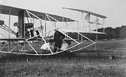 Padre Art Photos - Wright Brothers Biplane on Launch Track 1909 by Padre Art