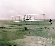 Wright Photos - Wright Brothers Flight by Science Source