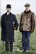 Pioneer History Prints - Wright Brothers, Us Aviation Pioneers Print by Sheila Terry