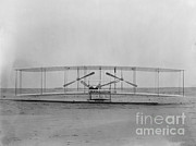 Hawk Hill Framed Prints - Wright Flyer, December 17th, 1903 Framed Print by Science Source