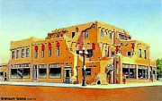 Albuquerque Paintings - Wrights Trading Post In Albuquerque N M In 1940 by Dwight Goss