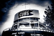 Friendly Confines Prints - Wrigley Field Bleachers in Black and White Print by Anthony Doudt