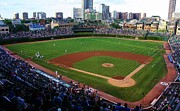 Cubs Baseball Park Prints - Wrigley Field Print by Bruce Bley