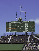 Ballpark Prints - Wrigley Field Classic Scoreboard 1977 Print by Paul Plaine