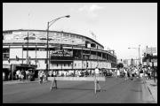 Chicago Baseball Framed Prints - Wrigley Field Framed Print by Courtney Lively