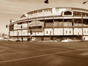 Chicago Cubs Prints - Wrigley Field Print by David Bearden