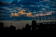 Friendly Confines Prints - Wrigley Field Light Stand Print by Anthony Doudt