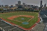 Friendly Confines Posters - Wrigley in Spring Poster by David Bearden