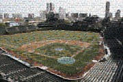 Wrigley Field Framed Prints - Wrigley Mosaic Framed Print by David Bearden