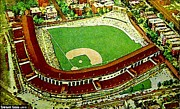 Chicago Il Paintings - Wrigley Stadium In Chicago In 1940 by Dwight Goss