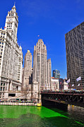 Water St Chicago Photos - Wrigley Tower by Dejan Jovanovic