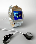 Phones Photos - Wrist Watch Mp3 Player by Christian Darkin