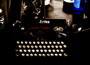 Typewriter Digital Art - Writing Back to the German Forties by Steven  Digman