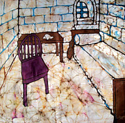 Cotton Muslin Art - Writing Room Batik by Kristine Allphin