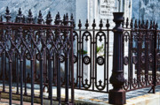 Kathleen K Parker - Wrought Iron Cemetery Fence