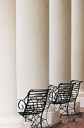 Wrought Iron Chairs And Columns Print by Jeremy Woodhouse