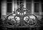 Fleur De Lis Art - Wrought Iron Detail by Perry Webster