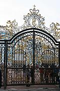 Entrance Door Posters - Wrought Iron Gate Poster by Christiane Schulze