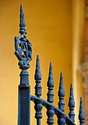 Finial Posters - Wrought Iron Gate Detail Poster by David Buffington