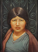 Bolivian Paintings - WS1979BO002Potosi Miriana 14x20 by Alfredo Da Silva