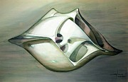 Abstract 3-d Paintings - WS1979BR005RJ Space Ship NO.3 by Alfredo Da Silva