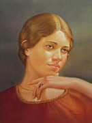Latin American Paintings - WS1979NY001 Lucy 14x20 by Alfredo Da Silva