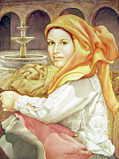 Bolivian Paintings - WS1995DC005 Rosana 14.75x19.5 by Alfredo Da Silva