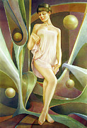 Bolivian Paintings - WS2000DC009AR Gilda Buenos Aires 15.25x22.5 by Alfredo Da Silva