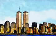 Twin Towers World Trade Center Digital Art Metal Prints - WTC - Remembering Metal Print by PedrazArt Digital Designs