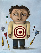 Bulls Eye Framed Prints - WTF 2 No Words Framed Print by Leah Saulnier The Painting Maniac