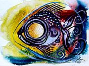 Ink Art Framed Prints - WTFish 3816 Framed Print by J Vincent Scarpace